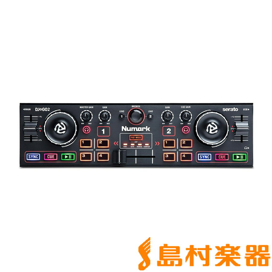 Numark DJ2GO2 DJコントローラー [ポケットサイズ] オーディオインターフェイス内蔵 【ヌマーク】