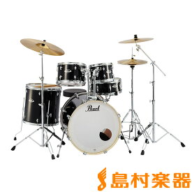 """Pearl EXPORT EXX725S/C #31 Jet Black シンバル付きドラムセット スタンダードサイズ 【バスドラム22""""】 【パール エクスポート】"""