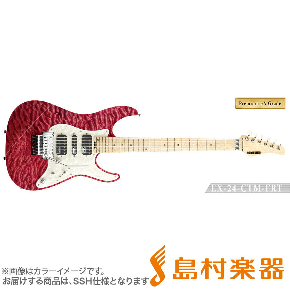 SCHECTER EX4B-24CTM-FRT/5AG/M RDNTL エレキギター EX SERIES 【Premium 5A Grade】 【シェクター】【受注生産 納期約7〜8ヶ月 ※注文後のキャンセル不可】