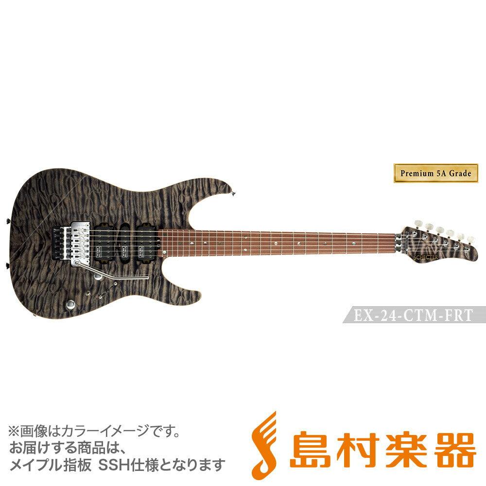 SCHECTER EX4B-22CTM-FRT/5AG/M BKNTL エレキギター EX SERIES 【Premium 5A Grade】 【シェクター】【受注生産 納期約7〜8ヶ月 ※注文後のキャンセル不可】