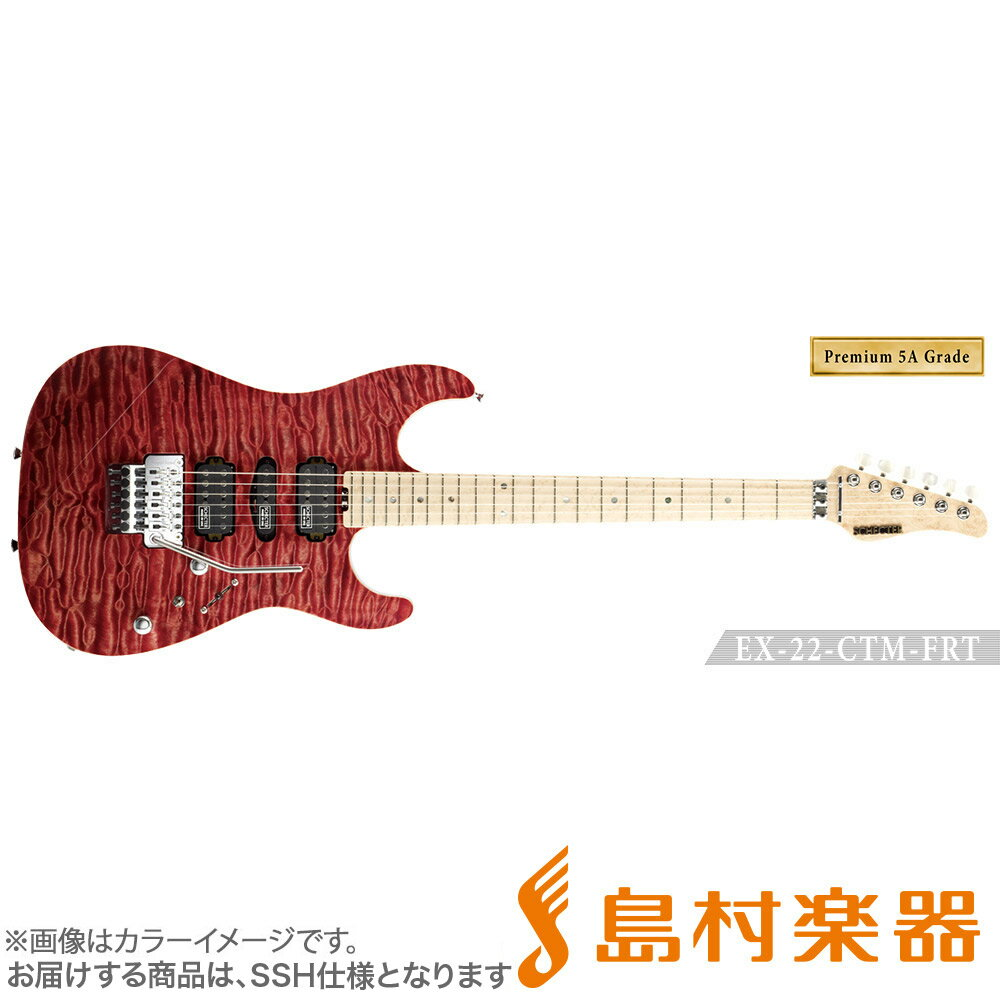 SCHECTER EX4B-22CTM-FRT/5AG/M RDNTL エレキギター EX SERIES 【Premium 5A Grade】 【シェクター】【受注生産 納期約7〜8ヶ月 ※注文後のキャンセル不可】