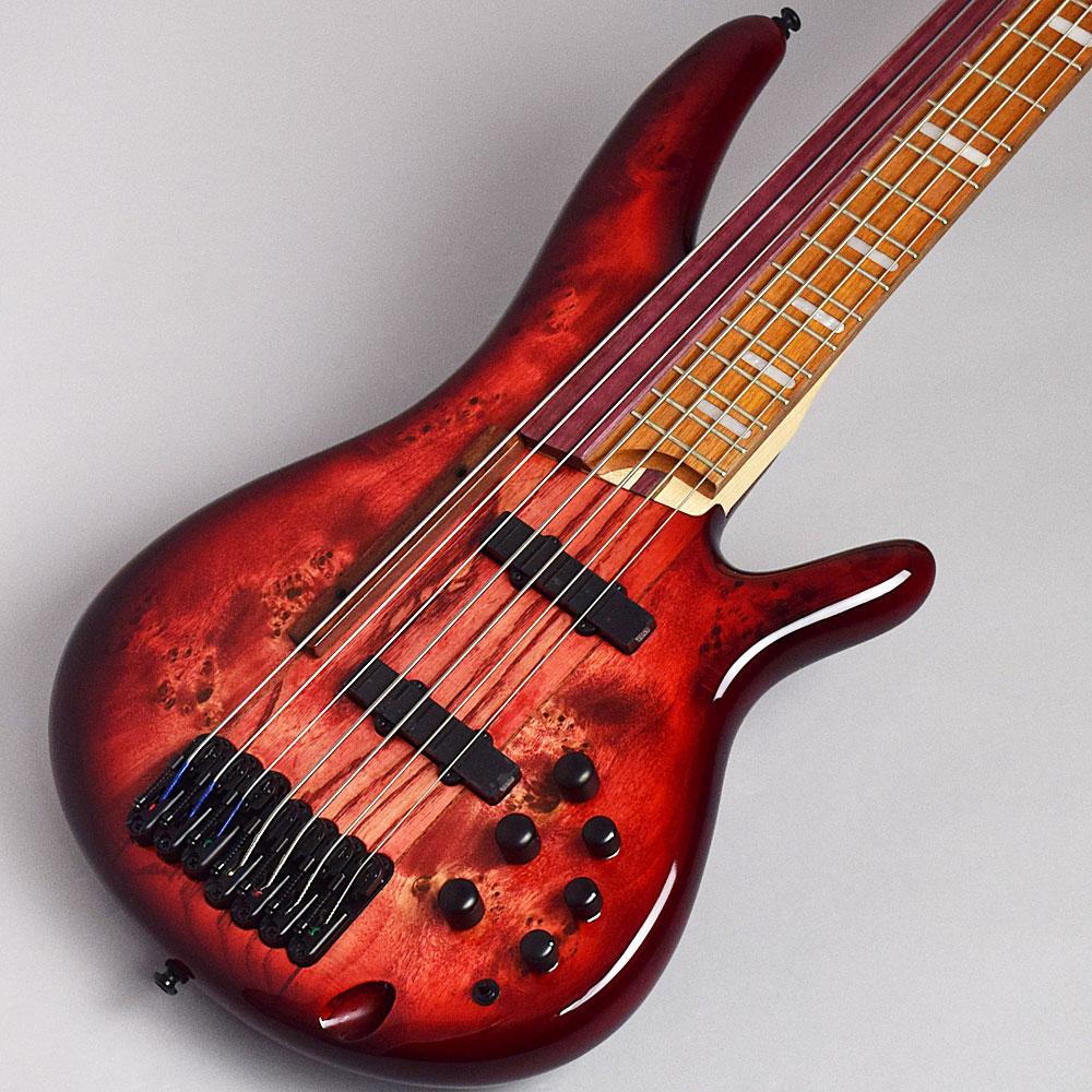 【エントリーでポイント5倍♪ 5/30 23:59迄】Ibanez SRAS7-RSG(Raspberry Stained Burst Gloss) エレキベース(7弦ベース) 【アイバニーズ Ashula Bass/阿修羅ベース】【限定モデル】