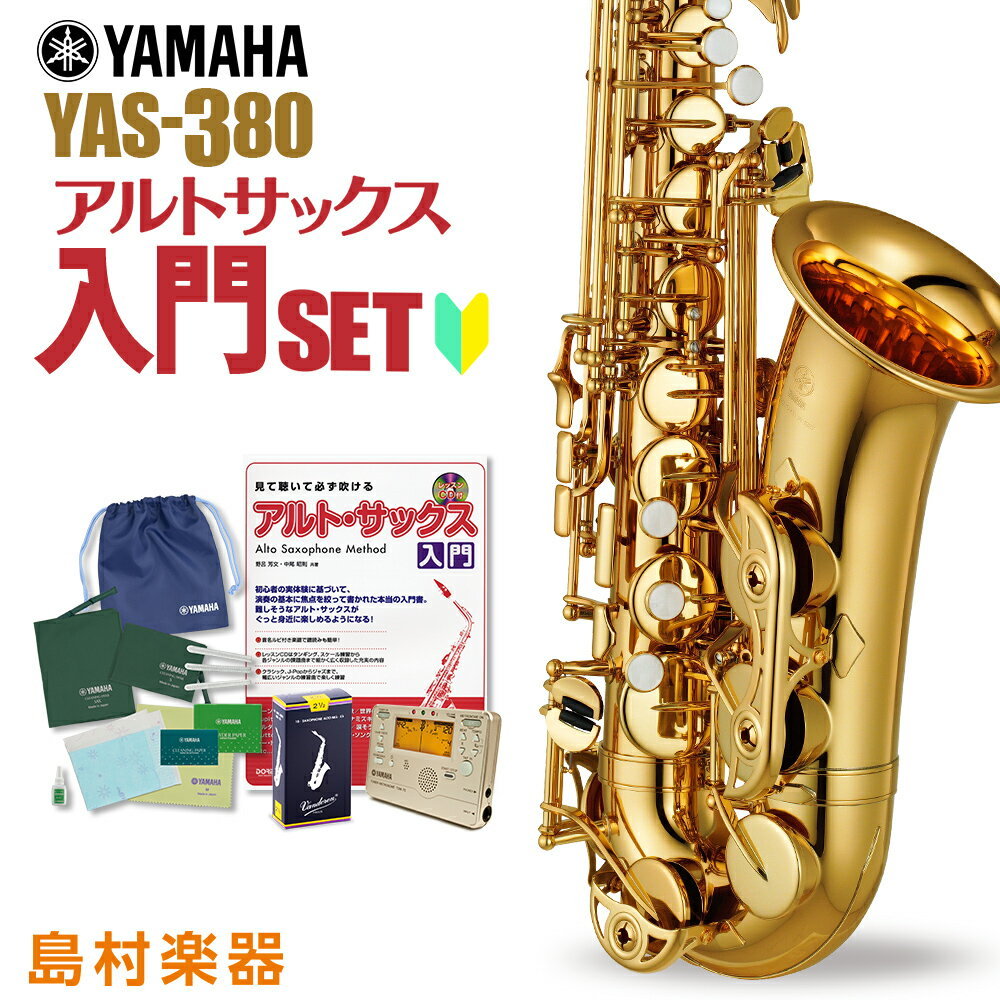 YAMAHA YAS-380 初心者 入門 セット サックス アルトサックス 【ヤマハ YAS380】