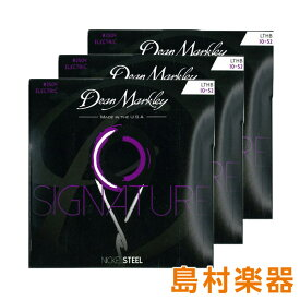 Dean Markley 2504-3PACK エレキギター弦 Nickel Steel Electric Signature Series LTHB 010-052 3パック 【ディーンマークレイ】