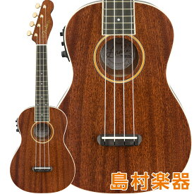 Fender Grace VanderWaal Signature Uke Walnut Fingerboard Natural コンサートウクレレ プリアンプ搭載 グレース・ヴァンダーウォールモデル 【フェンダー】