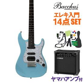 Bacchus GS-Mini SOB エレキギター 初心者14点セット 【ヤマハアンプ付き】 ユニバース シリーズ 【ダウンサイズ】 【バッカス ストラトキャスター】【オンラインストア限定】