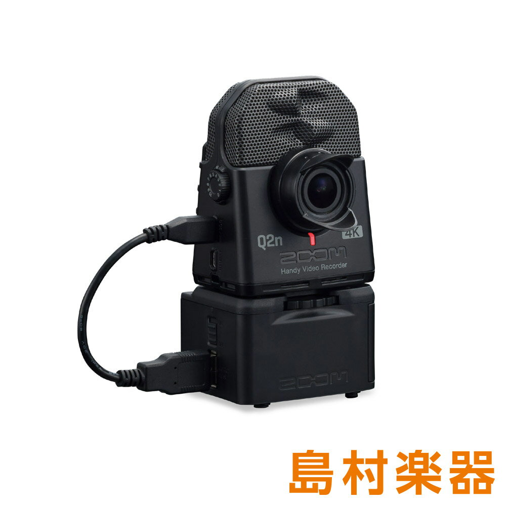 ZOOM Q2n-4K + BCQ-2n(バッテリーケース)セット 4Kカメラ ハンディービデオレコーダー 【ズーム】