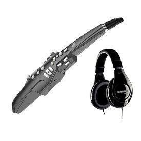 Roland Aerophone AE-10G Graphite Black (グラファイトブラック) サイレントセット (ウインドシンセサイザー + ヘッドホン) 初心者セット 【ローランド AE10G】