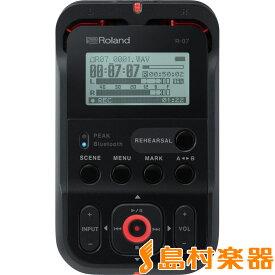 【数量限定USBケーブルプレゼント!】 Roland R-07 (ブラック) High Resolution Audio Recorder ハンディ レコーダー ハイレゾ対応 【ローランド】