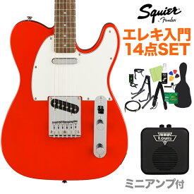 Squier by Fender Affinity Series Telecaster Laurel Fingerboard Race Red エレキギター 初心者14点セット 【ミニアンプ付き】 テレキャスター 【スクワイヤー / スクワイア】【オンラインストア限定】