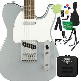 Squier by Fender Affinity Series Telecaster Laurel Fingerboard Slick Silver エレキギター 初心者14点セット 【ミニアンプ付き】 テレキャスター 【スクワイヤー / スクワイア】【オンラインストア限定】