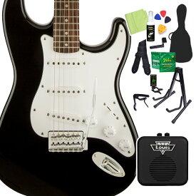 Squier by Fender Affinity Series Stratocaster Laurel Fingerboard Black エレキギター 初心者14点セット 【ミニアンプ付き】 ストラトキャスター 【スクワイヤー / スクワイア】【オンラインストア限定】