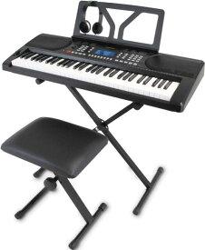 キーボード 電子ピアノ onetone OTK-61S ブラック 61鍵盤 スタンド いす ヘッドホン セット 【ワントーン 子供 子供用 キッズ プレゼント】 楽器