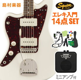 Squier by Fender Classic Vibe '60s Jazzmaster Left-Handed, Olympic White 初心者14点セット ミニアンプ付き エレキギター レフトハンド 【スクワイヤー / スクワイア】