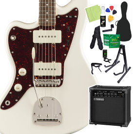 Squier by Fender Classic Vibe '60s Jazzmaster Left-Handed, Olympic White 初心者14点セット 【ヤマハアンプ付】 エレキギター レフトハンド 【スクワイヤー / スクワイア】