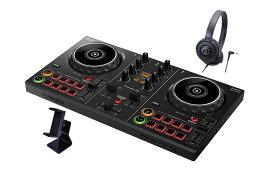 Pioneer DJ DDJ-200 スマホスタンド、ヘッドホンセット! audio-technica製ヘッドホン 【パイオニア】