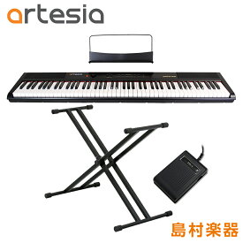 Artesia Performer ダブルX型スタンドセット 電子ピアノ フルサイズ セミウェイト 88鍵盤 【アルテシア パフォーマー】【初心者向け】【オンラインストア限定】