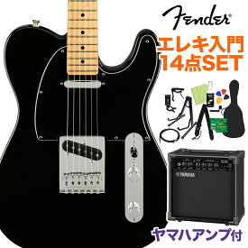 Fender Player Telecaster Maple Fingerboard Black 初心者14点セット 【ヤマハアンプ付き】 テレキャスター 【フェンダー】【オンラインストア限定】