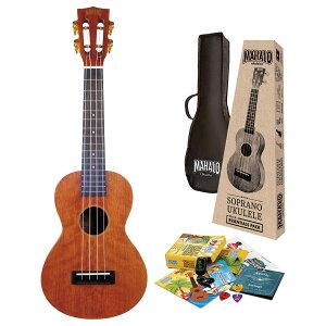 MAHALO Learn 2 Play Pack MJ2 TBRK トランスペアレントブラウン コンサートウクレレ 初心者セット 【マハロ】