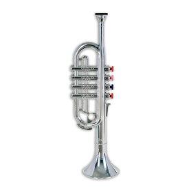BONTEMPI おもちゃのトランペット シルバートランペット 4keys 37cm 【ボンテンピ キッズ 子供 プレゼント 楽器】