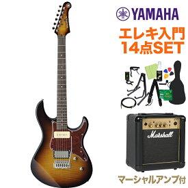 YAMAHA PACIFICA611VFM TBS エレキギター初心者14点セット 【マーシャルアンプ付き】 タバコブラウンサンバースト 【ヤマハ パシフィカ】