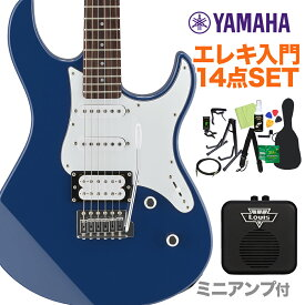 YAMAHA PACIFICA112V UTB エレキギター初心者14点セット 【ミニアンプ付き】 エレキギター ユナイテッドブルー 【ヤマハ パシフィカ PAC112】