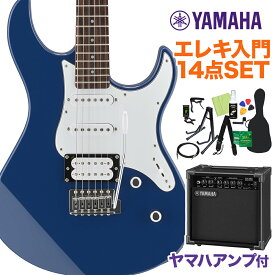 YAMAHA PACIFICA112V UTB エレキギター初心者14点セット 【ヤマハアンプ付き】 エレキギター ユナイテッドブルー 【ヤマハ パシフィカ PAC112】