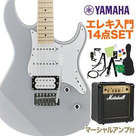 YAMAHA PACIFICA112VM GRY エレキギター初心者14点セット 【マーシャルアンプ付き】 エレキギター グレー 【ヤマハ パシフィカ PAC112】