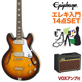 Epiphone Casino Coupe Vintage Sunburst エレキギター 初心者14点セット【VOXアンプ付き】 カジノ フルアコ 【エピフォン】