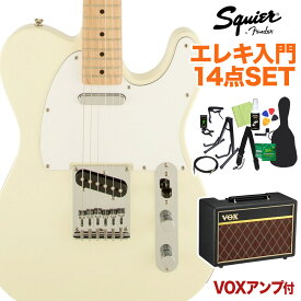 Squier by Fender Affinity Telecaster AWT エレキギター 初心者14点セット 【VOXアンプ付き】 【スクワイヤー / スクワイア】