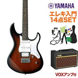 YAMAHA PACIFICA112V OVS エレキギター初心者14点セット 【VOXアンプ付き】 オールド バイオリン サンバースト 【ヤマハ パシフィカ PAC112】