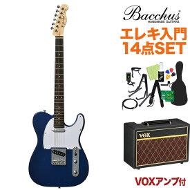 Bacchus BTE-1R DLPB エレキギター初心者14点セット 【VOXアンプ付き】 ダークレイクプラシッドブルー 【バッカス】