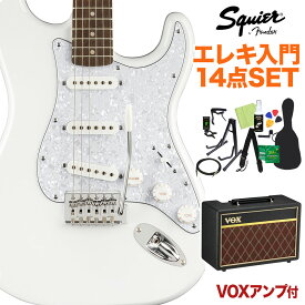 Squier by Fender FSR Affinity stratocaster White Pearl エレキギター初心者14点セット 【VOXアンプ付き】 【スクワイヤー / スクワイア】