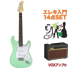 Photogenic ST-180 SFG エレキギター初心者14点セット 【VOXアンプ付き】 ストラトタイプ 【フォトジェニック】