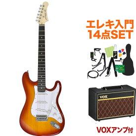 Photogenic ST-180 CS エレキギター初心者14点セット 【VOXアンプ付き】 ストラトタイプ 【フォトジェニック】