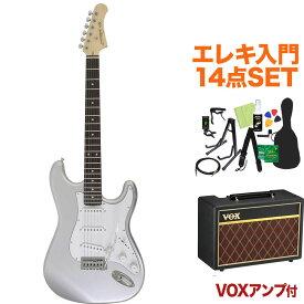 Photogenic ST-180 SV エレキギター初心者14点セット 【VOXアンプ付き】 ストラトタイプ 【フォトジェニック】