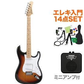 Photogenic ST180M SB エレキギター初心者14点セット 【ミニアンプ付き】 ストラトタイプ 【フォトジェニック】【オンラインストア限定】