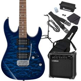 Gio Ibanez GRX70QA TBB (Transparent Blue Burst) エレキギター 初心者セット ヤマハアンプ付き 【ジオ アイバニーズ】
