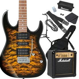 Gio Ibanez GRX70QA SB (Sunburst) エレキギター 初心者セット マーシャルアンプ付き 【ジオ アイバニーズ】