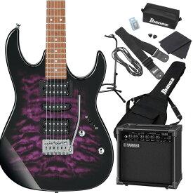 Gio Ibanez GRX70QA TVT (Transparent Violet Sunburst) エレキギター 初心者セット ヤマハアンプ付き 【ジオ アイバニーズ】