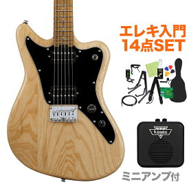 GrassRoots G-TK-STD Natural エレキギター初心者14点セット 【ミニアンプ付き】 【グラスルーツ】