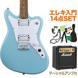 GrassRoots G-TK-STD Sonic Blue エレキギター初心者14点セット【マーシャルアンプ付き】 【グラスルーツ】