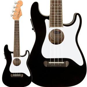 Fender Fullerton Strat Uke Black コンサートウクレレ ピックアップ付き 【フェンダー】