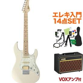 FUJIGEN BOS2-M/AWH/01 エレキギター 初心者14点セット【VOXアンプ付き】 ODYSSEYシリーズ 【フジゲン】