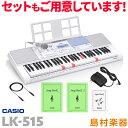 キーボード 電子ピアノ CASIO LK-515 マイク付き 光ナビゲーションキーボード 61鍵盤 【カシオ LK515 光る】