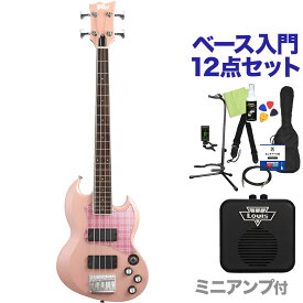 BanG Dream! VIPER BASS Rimi Mini Rimi Pink ベース 初心者12点セット 【ミニアンプ付】 Poppin'Party 牛込りみ モデル 【バンドリ】