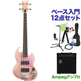 BanG Dream! VIPER BASS Rimi Mini Rimi Pink ベース 初心者12点セット 【ampegアンプ付】 Poppin'Party 牛込りみ モデル 【バンドリ】