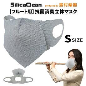 シリカクリン フルート用 抗菌消臭立体マスク Sサイズ グレー 1枚 【 SCFM-S/G フルート用マスク】
