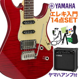 【新色】 YAMAHA PACIFICA612VII FMX Fired Red エレキギター初心者14点セット【ヤマハアンプ付き】 【ヤマハ パシフィカ】