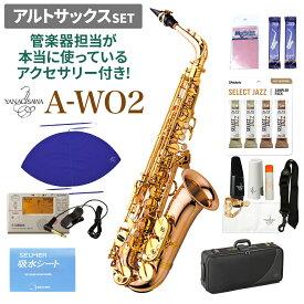 【在庫あり・即納可】 YANAGISAWA A-WO2 アルトサックスセット 【ヤナギサワ】【管楽器担当が本当に使っているアクセサリー付き!】【未展示新品】